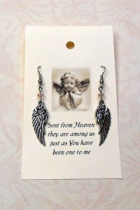 angel wing earring b