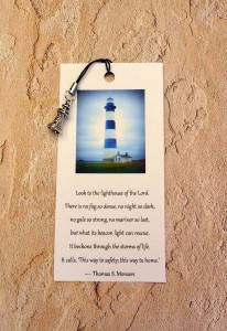 Lighthouse zipper pull