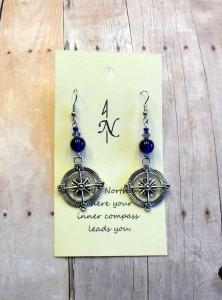 compass earring cobalt