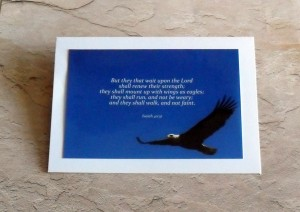 eagle scripture card