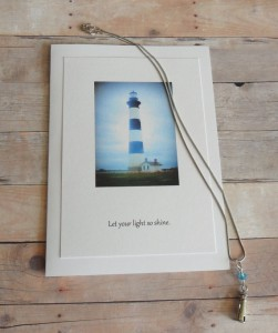 lighthouse necklace card